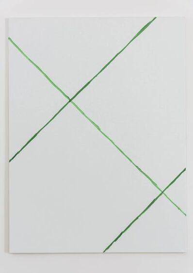 Michael Krebber, 'Cartouche Painting N°9', 2017