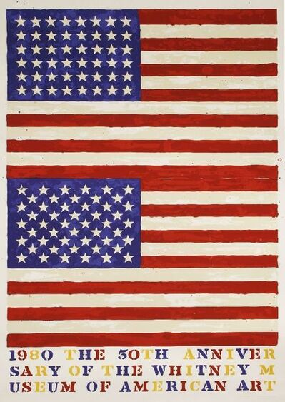 Jasper Johns, 'Two Flags (Whitney Anniversary)', 1980