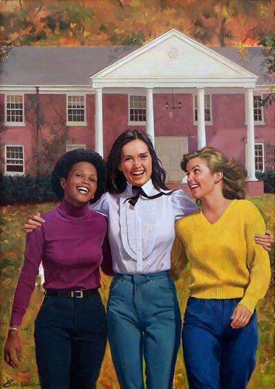 Robert Berran, 'Roommates, Girls of Canby Book Cover', 1984