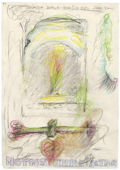 """Günter Brus, '""""Nothschreialtar"""" (Cry-For-Help-Altar)', 1972"""