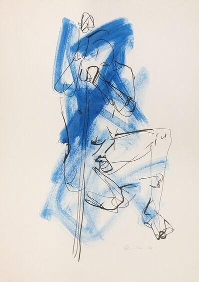 Nicole Leidenfrost, 'Mann in blau', 2019