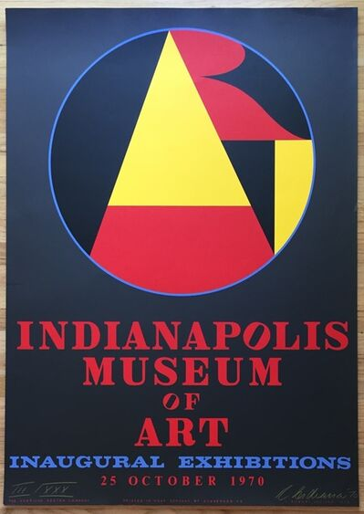 Robert Indiana, 'Indianapolis Museum of Art, Inaugural Exhibitions', 1970