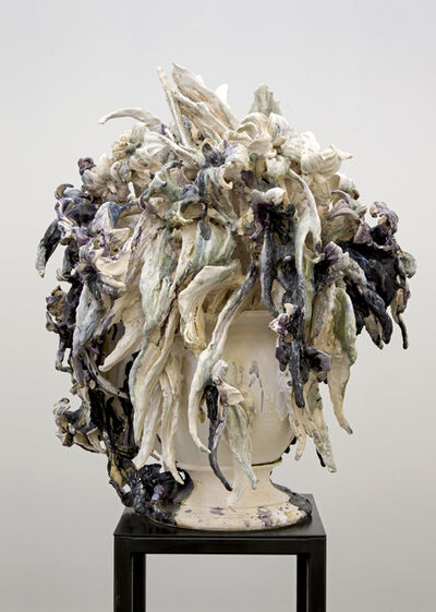 Anne Wenzel, 'Attempted Decadence (Blossoms, Dark purple)', 2014