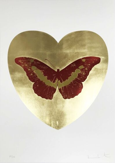 Damien Hirst, 'I Love You - Gold Leaf/Poppy Red/Oriental Gold', 2015