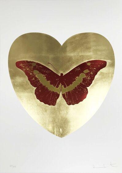 Damien Hirst, 'I Love You - Gold Leaf/Poppy Red/Oriental Gold', 2015