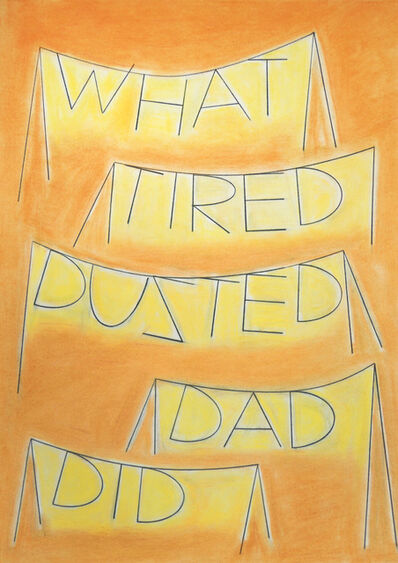 Honza Zamojski, 'What Tired Dusted Dad Did', 2020