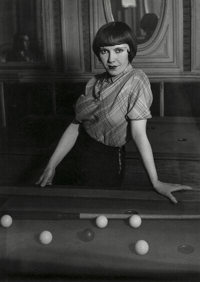 Brassaï, 'Prostitute Playing Russian Billiards, Boulevard Rochechouart, Paris', 1932-33/1950s