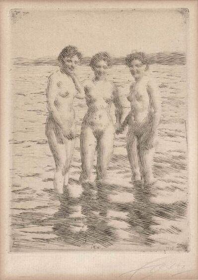 Anders Leonard Zorn, 'THREE GRACES (ASPLUND 236)', 1910