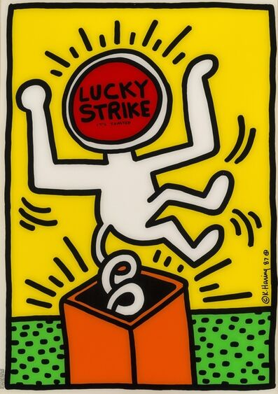 Keith Haring, 'Lucky Strike It's Toasted', 1987