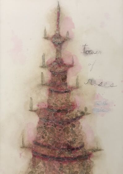 Esther Solondz, 'Tower of Roses with Mica', 2017