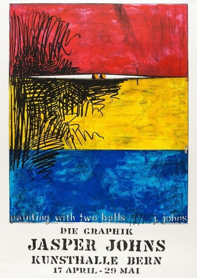 Jasper Johns, 'Painting with two balls, poster for the Amerika Haus Berlin', 1972