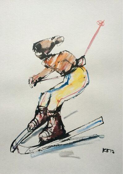 "Konstantin Batynkov, '""Skiers"" 1', 2017"