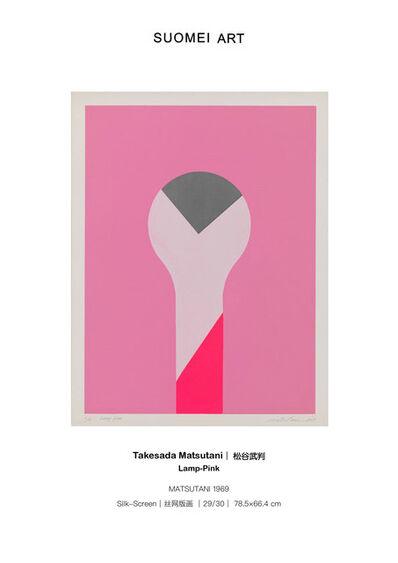 Takesada Matsutani, 'Lamp-Pink', 1969