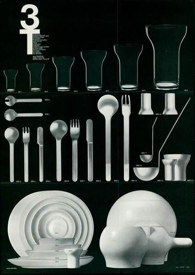 Roger Tallon, 'Set of tableware 3T', 1967