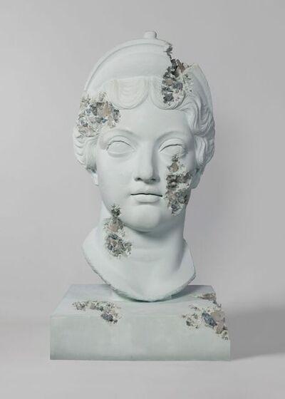 Daniel Arsham, 'Blue Calcite Eroded Head of Lucille', 2019