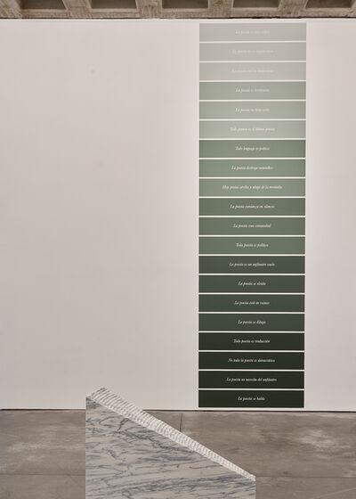 Jorge Méndez Blake, 'Cosas que aprendí sobre la poesía (Español) / Things I've Learned About Poetry (Spanish)', 2020