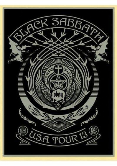 Shepard Fairey, 'Black Sabbath USA Tour Silver', 2013