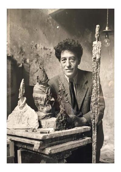 Sabine Weiss, 'Alberto Giacometti in his studio (with thin head), Paris, 1954', 1954
