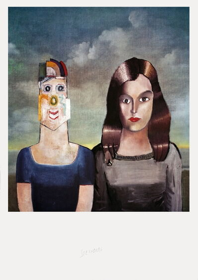 Saul Steinberg, 'Couple Portrait', 1971