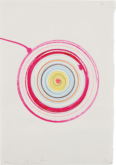 Damien Hirst, 'beautiful lunatics spinning drawing (with breakaway edge)', 1993