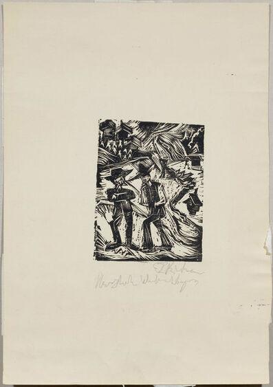 Ernst Ludwig Kirchner, 'Zwei Bauern', 1918
