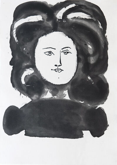 Pablo Picasso, 'Head of a woman with ornamental hair style', 1948