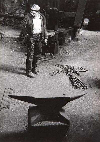 Ugo Mulas, 'David Smith, Italsider Savona', 1962