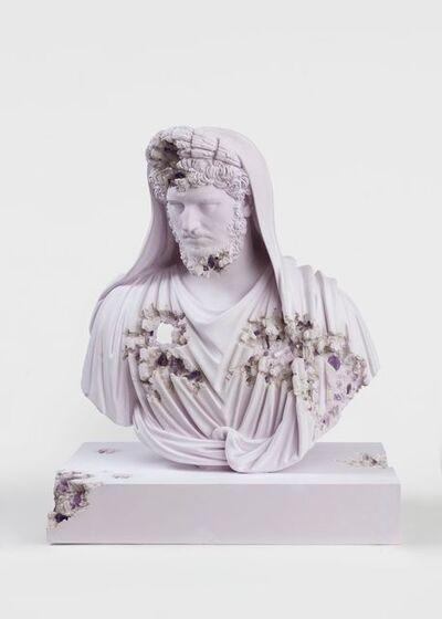 Daniel Arsham, 'Amethyst Eroded Bust of Lucius Verus en fière Arvale', 2020