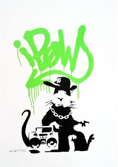 Banksy, 'Gangsta Rat, Lime Green', 2005