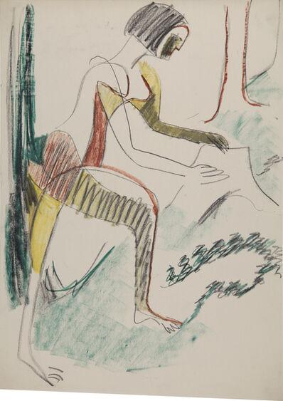 Ernst Ludwig Kirchner, 'Weiblicher Akt im Walde (Female Nude in the Forest)', 1933