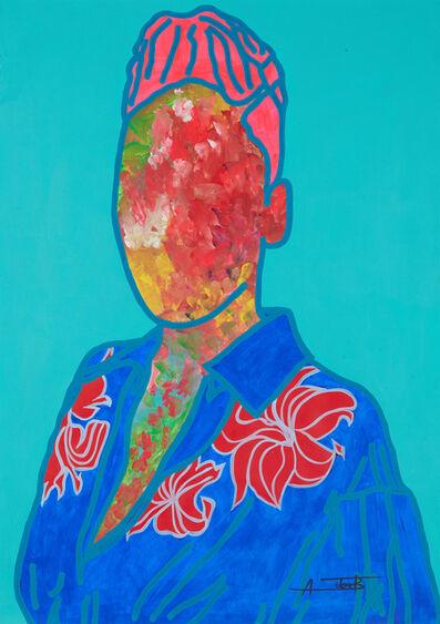 Ajarb Bernard Ategwa, 'A girl with blue shirt', 2020
