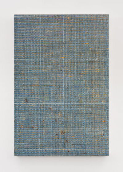 Chi Qun 迟群, '四条细线 - 蓝橘 1 Four Thin Lines - Blue and Orange 1', 2018