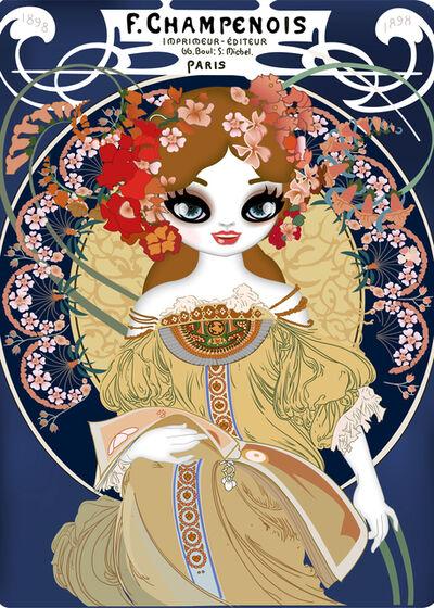 Mari Kim, 'F. Champenois Imprimeur-Editeur (homage to Alphonse Mucha) ', 2018