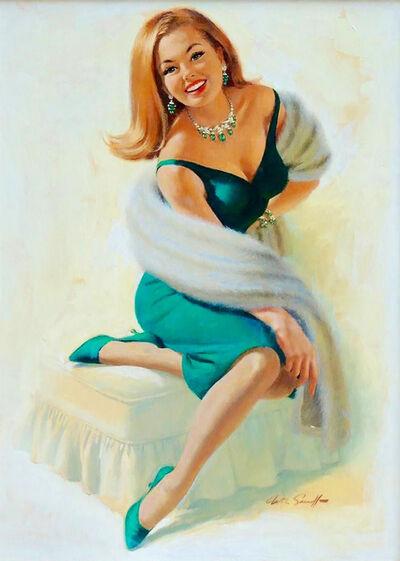 Arthur Sarnoff, 'Woman in Green Dress'