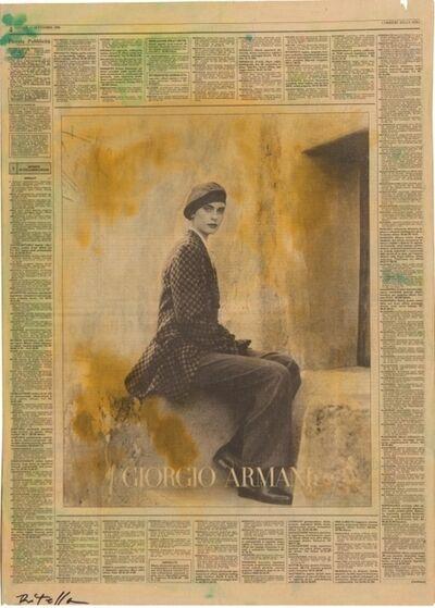 Mimmo Rotella, 'Aspettando', 1990