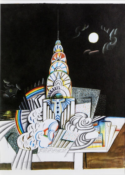 Saul Steinberg, 'Chrysler Building (Night) from Derrière le Miroir ', ca. 1965