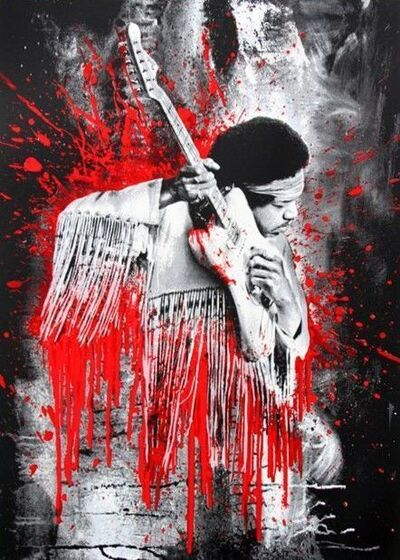 Mr. Brainwash, 'Jimi (Red)', 2015