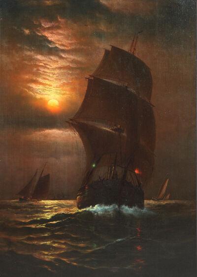 Charles Henry Gifford, 'Sailing Ship at Dusk', 1885