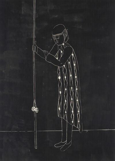 "Enrico David, '""Self-Portrait in Response to Lack of Adequate Equipment (night version)""', 2004"
