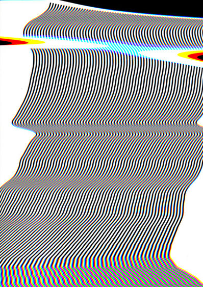 Carsten Nicolai, 'scan distortion 3', 2016