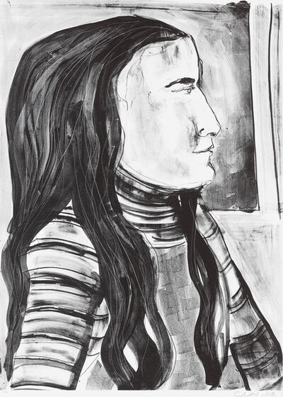 Chantal Joffe, 'Esme in Profile III', 2018
