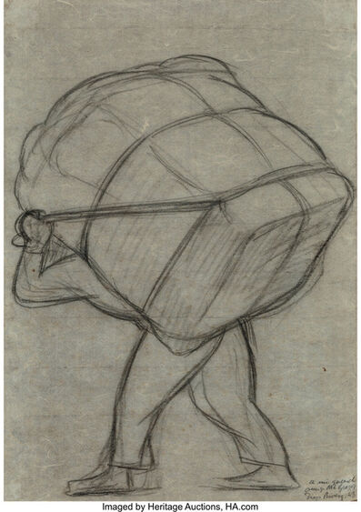 Diego Rivera, 'Untitled (Man with bale on his back)', 1943