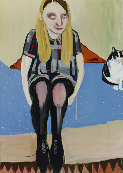 Chantal Joffe, 'Moll with the Cat', 2014