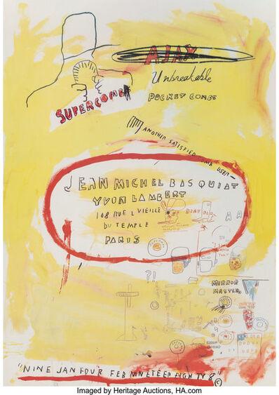 After Jean-Michel Basquiat, 'Supercomb. exhibition poster', 1988