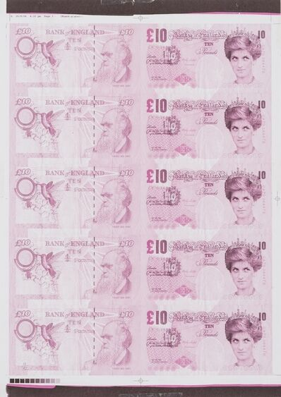 Banksy, 'Di-Faced Tenner (Pink)', 2004