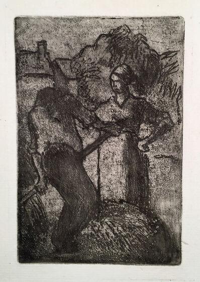 Camille Pissarro, 'COUPLE DE PAYSANS', 1923