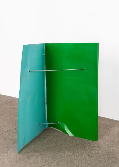 Michael Kienzer, 'Türkisblau/Reingrün (Flyer 2-teilig)', 2016-2018