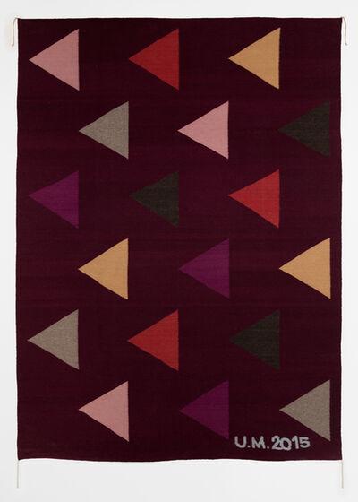Ulrike Müller, 'Rug (con triángulos)', 2015