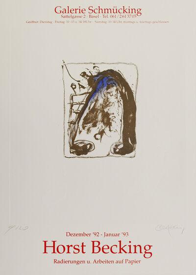 Horst Becking, 'Radierungen und Arbeiten auf Papier', 1992