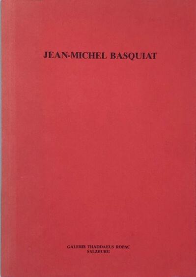 Jean-Michel Basquiat, 'Basquiat Thaddaeus Ropac 1986 catalog ', 1986
